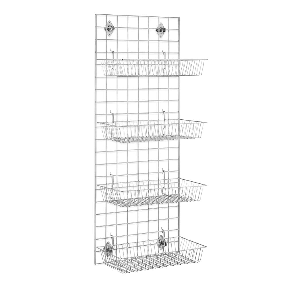5ft Gridwall Mesh Panel With 4 Baskets
