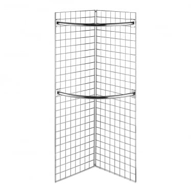 6 ft Freestanding Grid Mesh Display with Hanging Rails
