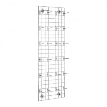 6 ft Wall-Mounted Grid Mesh with Hooks
