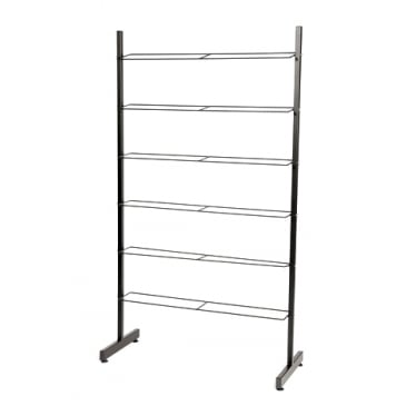 Black 6 Tier Shoe Rack - Up to 24 Pairs of Shoes