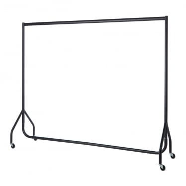 Black Heavy-Duty Clothes Rail