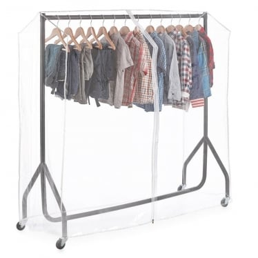 Black Heavy-Duty Junior/Kids Clothes Rail with Cover