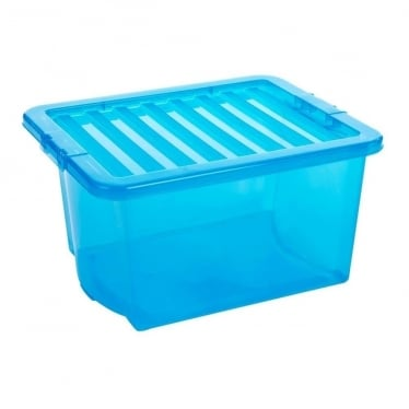Blue Storage Box with Lid - 35 L