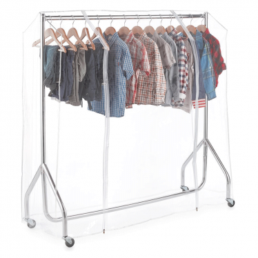 Chrome Heavy-Duty Junior/Kids Clothes Rail with Cover