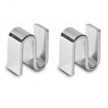 Chrome Shelf Joining Brackets for Chrome Wire Shelving, Pack of 2