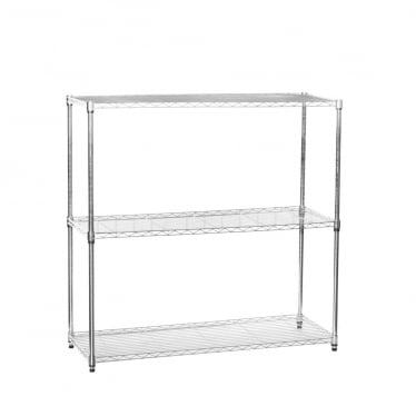 Chrome Wire Shelving Unit - 3 Shelves