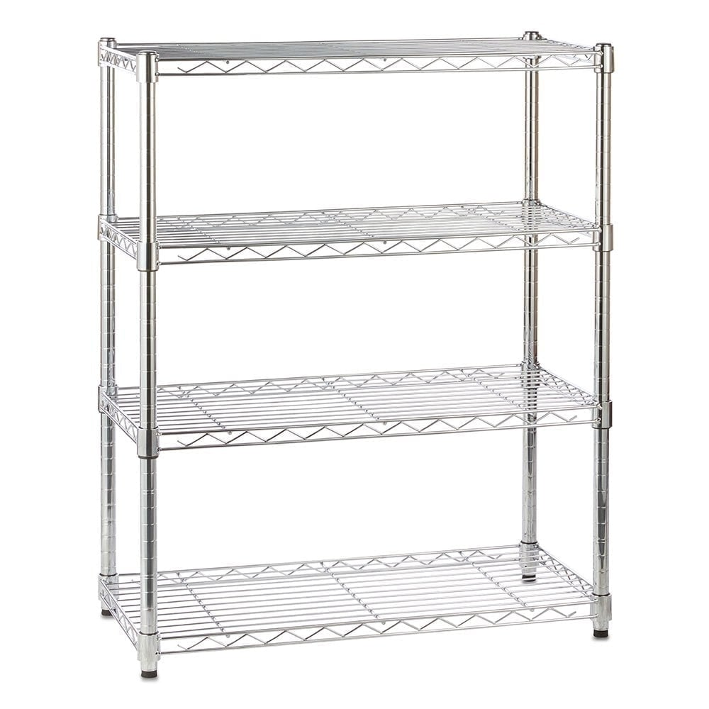 Chrome Wire Shelving Unit with 4 Shelves