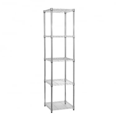 Chrome Wire Shelving Unit - 5 Shelves