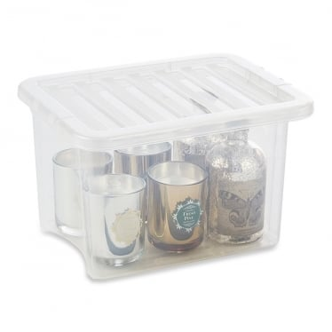 Clear Storage Box with Lid - 24 L