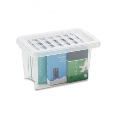 Clear Storage Box with Lid - 6.5 L