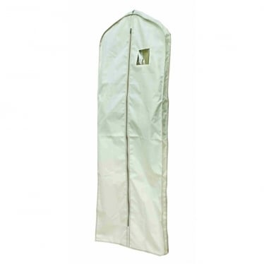 Extra Long Suit Cover With Gusset - Oyster with Grey Trim