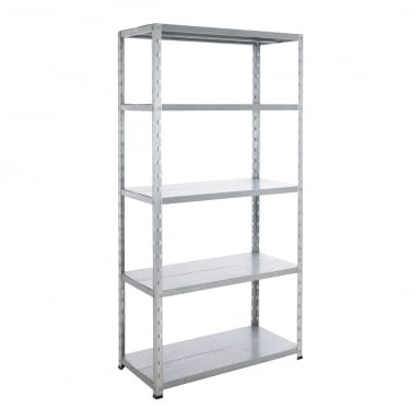 Galvanised Economy Shelving - Up to 200 kg UDL, 5 Galvanised Shelves