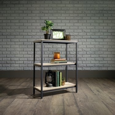 Hygge Black & Oak Bookcase - 2 shelves
