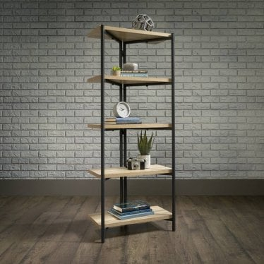 Hygge Chunky Black & Oak Bookcase - 4 shelves