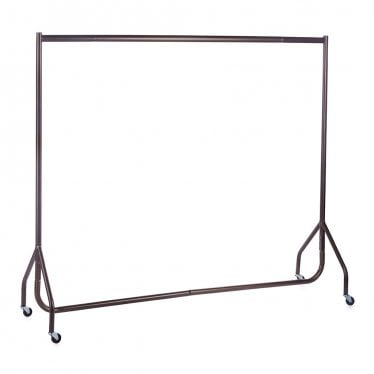 Industrial Metallic Brown Heavy Duty Clothes Rail - Compact Design