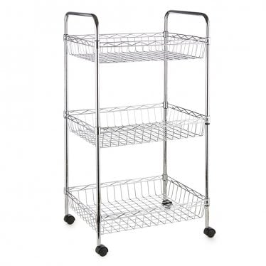 Kleinn Chrome Wire Basket Trolley