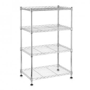 Kleinn Chrome Wire Shelving Unit - 4 Shelves