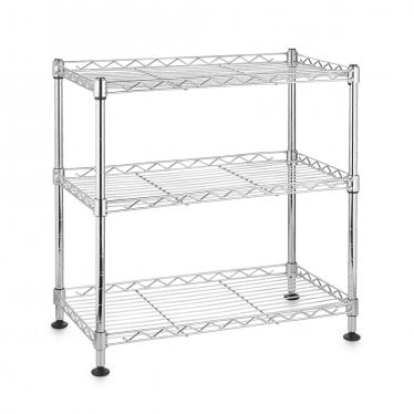 Kleinn Mini Chrome Wire Shelving Unit - 3 Shelves