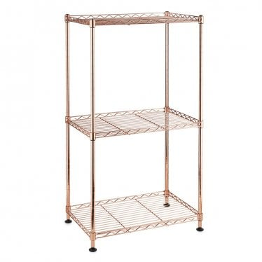 Kleinn Rose Gold Shelving Unit - 3 Shelves