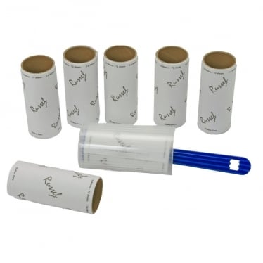 Lint Roller with 6 Refills - 1.6 m of Adhesive Paper per Roll