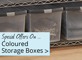 Coloured Storage Boxes - Special Offers