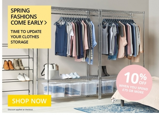 10% off Clothes Storage - Feb 2019