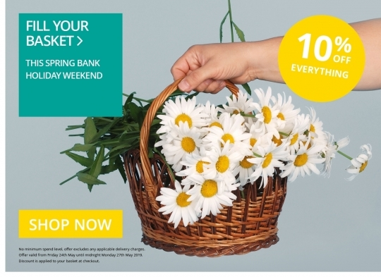 10% Off - Spring Bank Holiday 2019