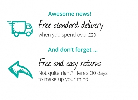 Free Delivery and Easy returns