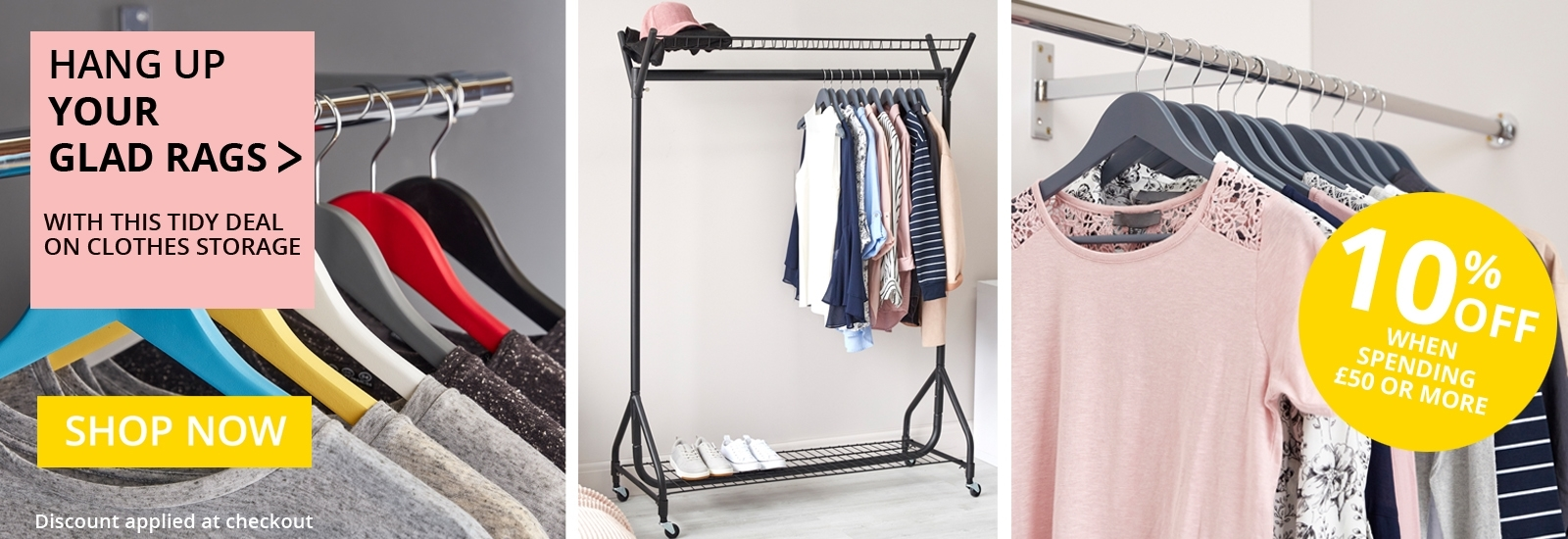 10% Off Clothes Storage
