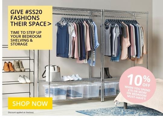 10% Off Bedroom Shelving & Storage