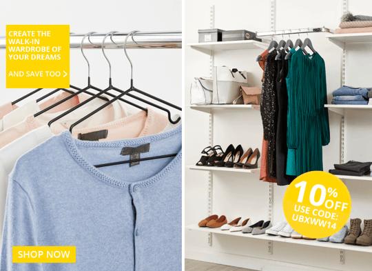 10% Walk in wardrobe