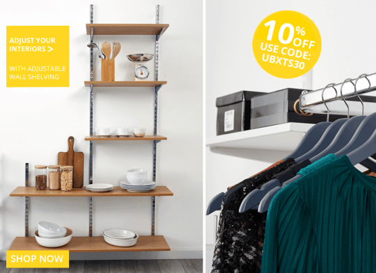 10% off Adjustable Wall Shelving