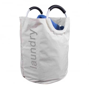 Oyster Laundry Hamper with Metal / Foam Handles