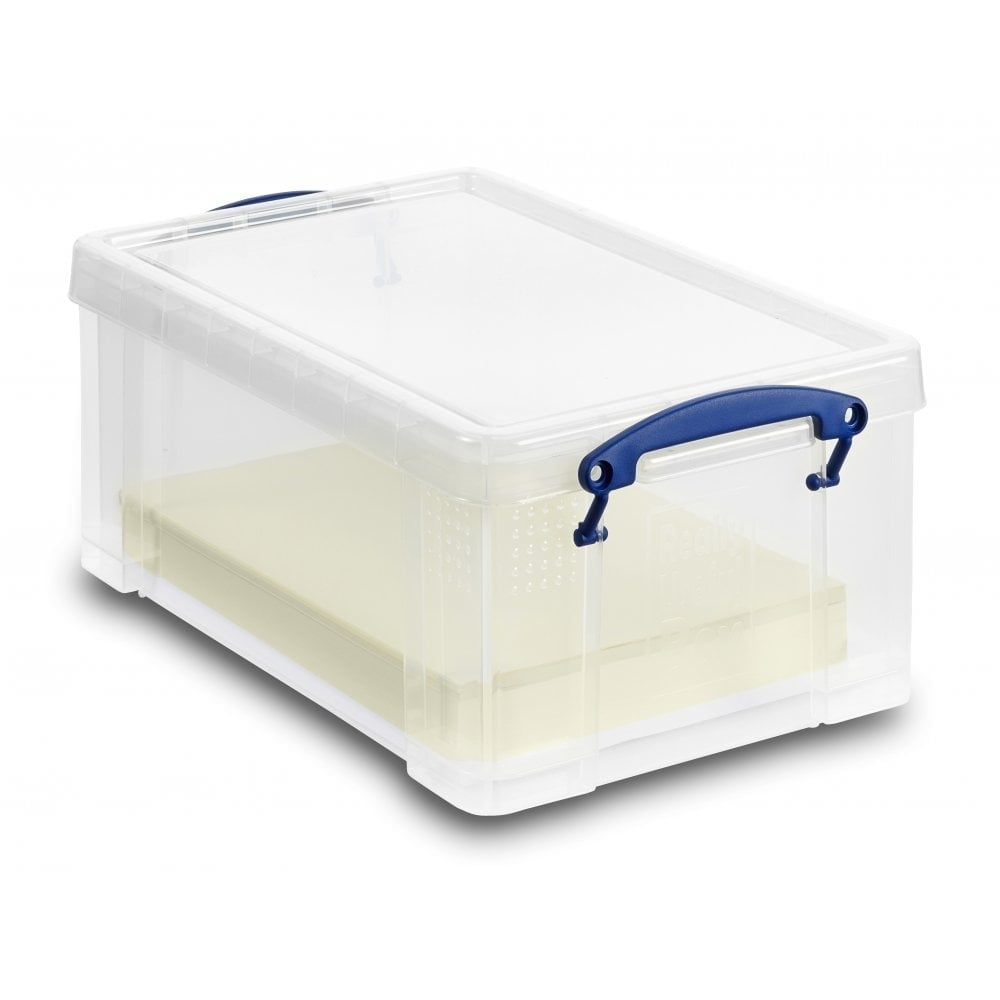 Really Useful A4 Plastic Storage Box with Lid - 9 L  sc 1 st  Urbaboxx & 9L Really Useful A4 Plastic Storage Box with Lid