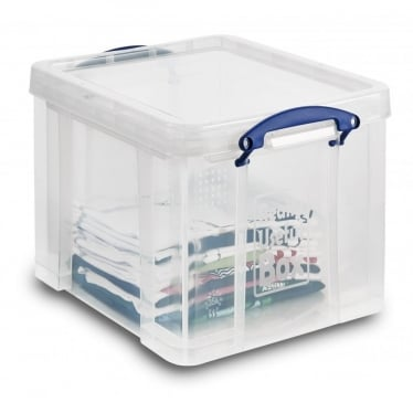 Really Useful Plastic Storage Box with Lid - 35 L