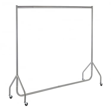 Silver Heavy-Duty Clothes Rail