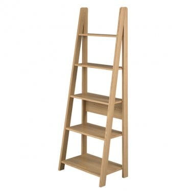 Tivva Ladder Bookcase Unit Oak
