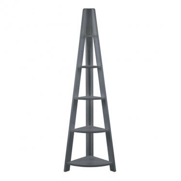 Tivva Ladder Corner Shelving Unit Black