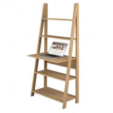Tivva Ladder Desk Unit Oak