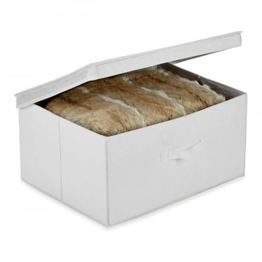 White Foldable Storage Box - Large