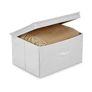 White Foldable Storage Box - Medium
