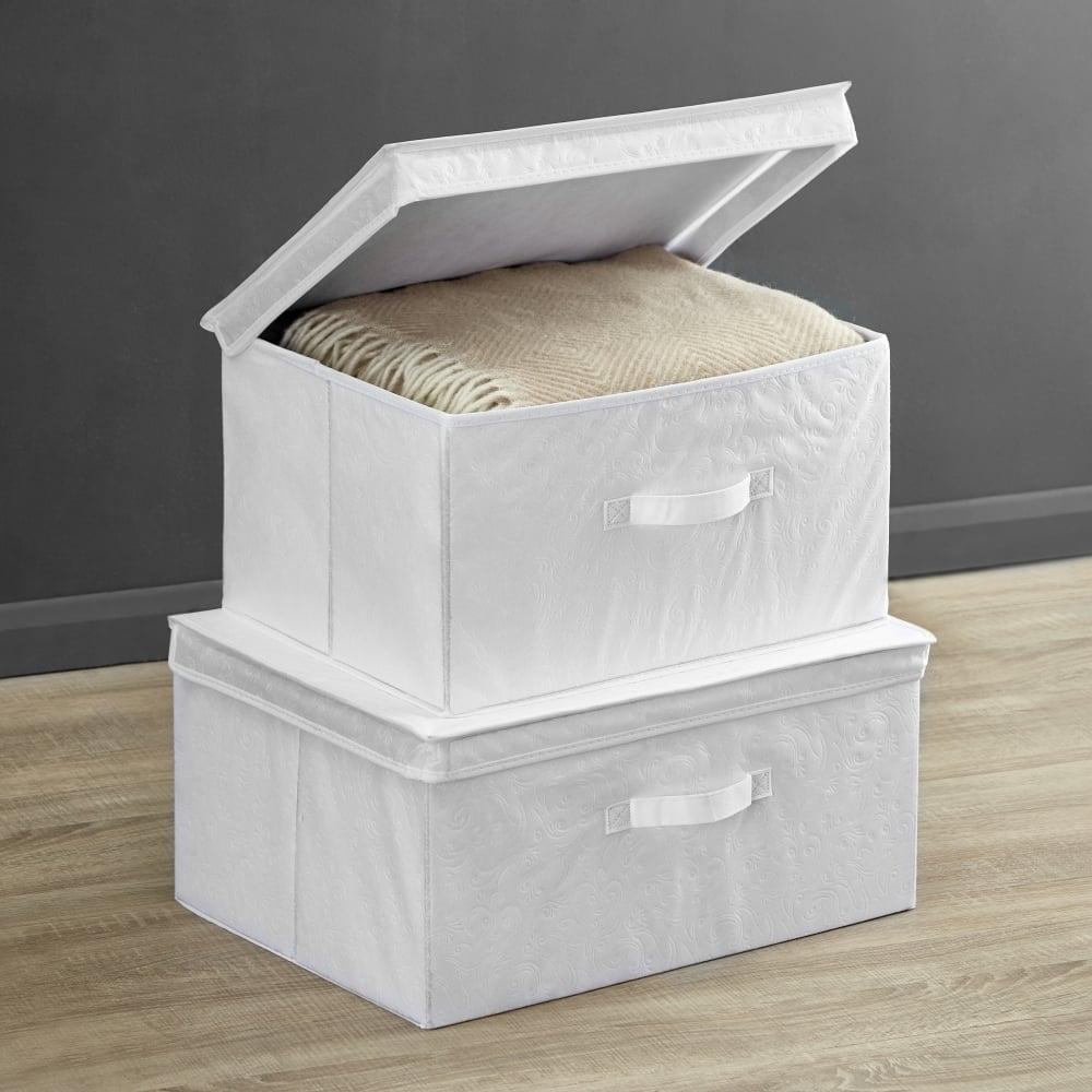 White Foldable Storage Box - Medium & White Foldable Storage Box