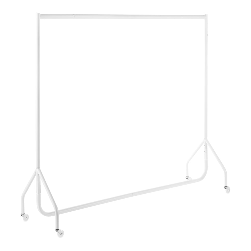 2ft to 6ft gloss white heavy duty clothes rail. Black Bedroom Furniture Sets. Home Design Ideas