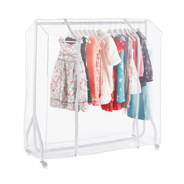 White Heavy-Duty Junior/Kids Clothes Rail with Cover